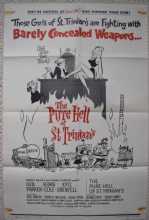 Pure Hell of St Trinians, Original 1 Sheet Poster, Sid James, George Cole 1960